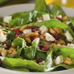Wilted Spinach Salad with Coconut