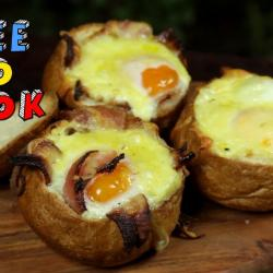 Baked Egg Breakfast Rolls (Meat Lovers and Vegetarian)